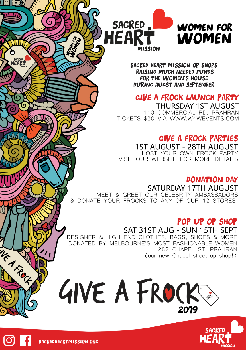 Give a Frock Key Dates 2019